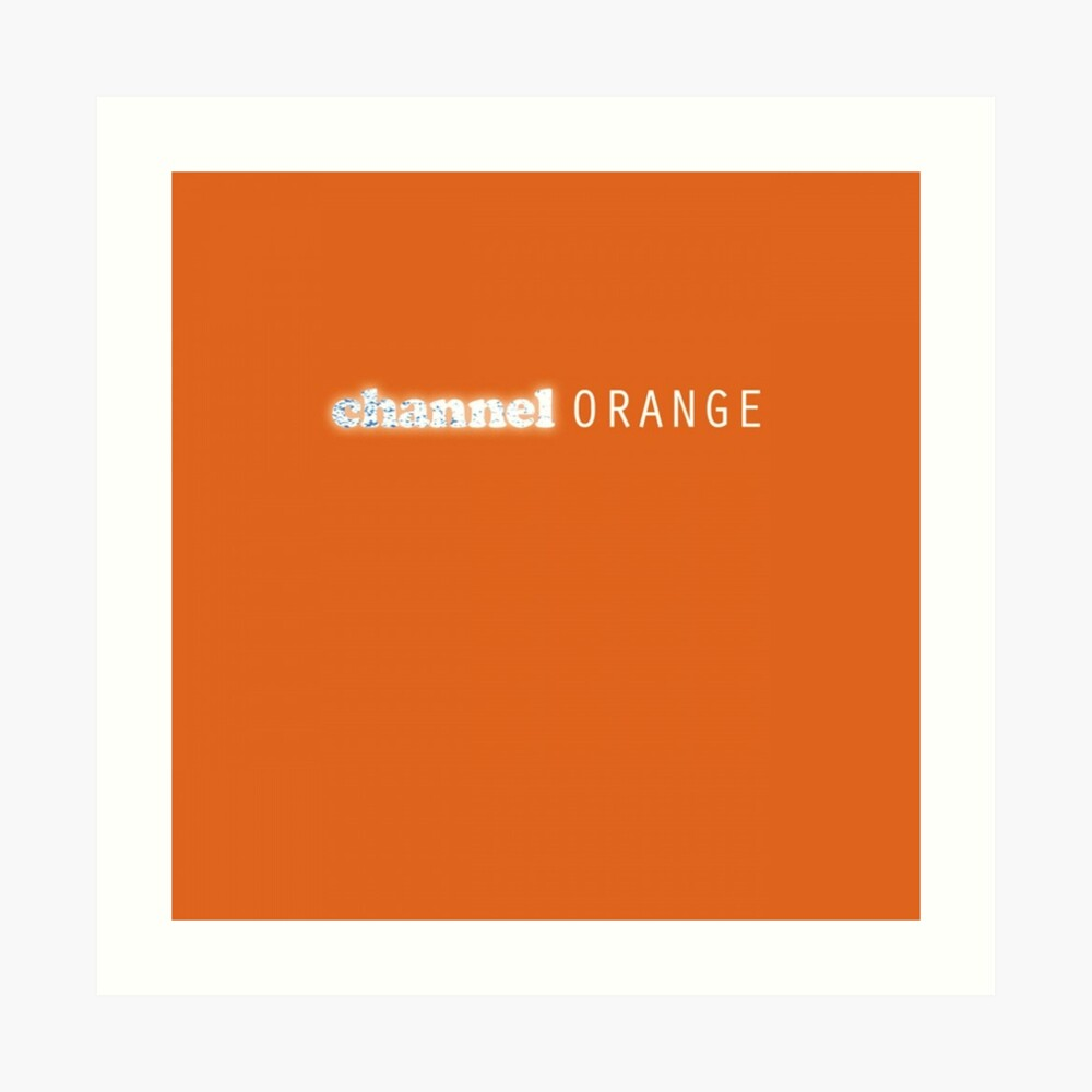 Kanal Orange Kunstdruck
