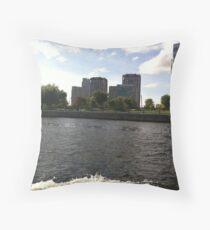 Boston on Water Throw Pillow