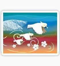 Sulphur-crested Cockatoos II Sticker