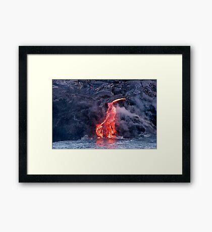 Lava Flow at Kalapana 2 Framed Print