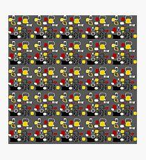 Retro 50s abstract colour palette 2 Photographic Print