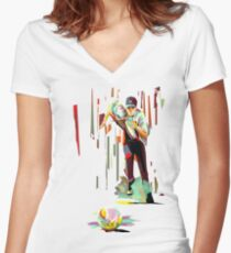 The Showdown Women's Fitted V-Neck T-Shirt