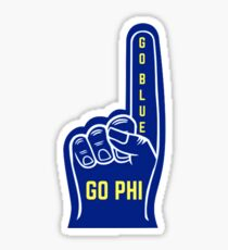 Go Blue, Go Phi Foam Finger Sticker