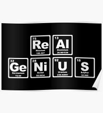 Real Genius - Periodic Table Poster