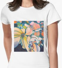 Kinetic Blossoms Women's Fitted T-Shirt