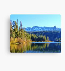 FALL REFLECTIONS ON LOVELY MAMMOTH LAKE Canvas Print