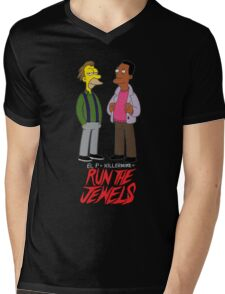 Run The Jewels Lenny and Carl Parody Mens V-Neck T-Shirt