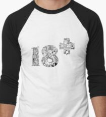 18 + Men's Baseball ¾ T-Shirt