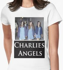 Charlies Angles Parody- Charles Manson Womens Fitted T-Shirt