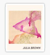 Julia Brown Watercolor  Sticker