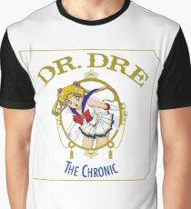 Sailor Moon Dr Dre the Chronic cover Parody tee Graphic T-Shirt