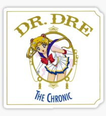 Sailor Moon Dr Dre the Chronic cover Parody tee Sticker