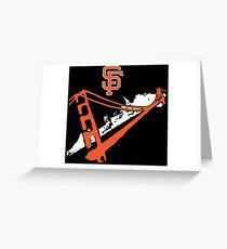 San Francisco Giants Stencil White Greeting Card