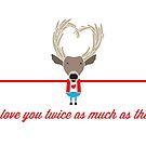 I Love You Deer by samedog