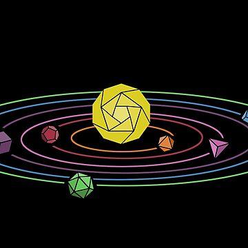 Rainbow Dice Solar System by BleedBronze