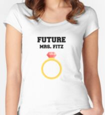 Future Mrs. Fitz Women's Fitted Scoop T-Shirt