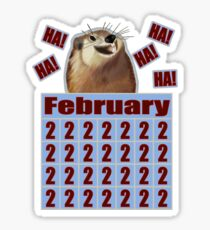 Groundhog Day Forever Sticker