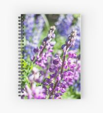 Field of Lupines Photography Print Spiral Notebook