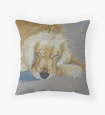 Sleeping Pet Throw Pillow