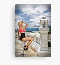 Danielle on the balcony overlooking the river . . . Canvas Print