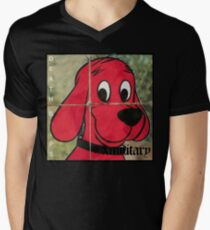 Clifford Exmilitary Death grips cover  Men's V-Neck T-Shirt