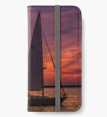 Sailing into the Sunset iPhone Wallet