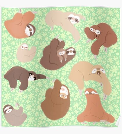 Sloth-mania Poster
