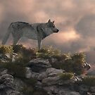 Timber wolf by Walter Colvin