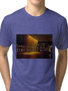 Fountain from the Adelaide Oval Bridge at night Tri-blend T-Shirt
