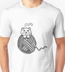 Cat baby cute ball of wool Unisex T-Shirt