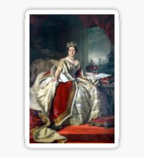 Franz Xaver Winterhalter Portrait of Queen Victoria Sticker