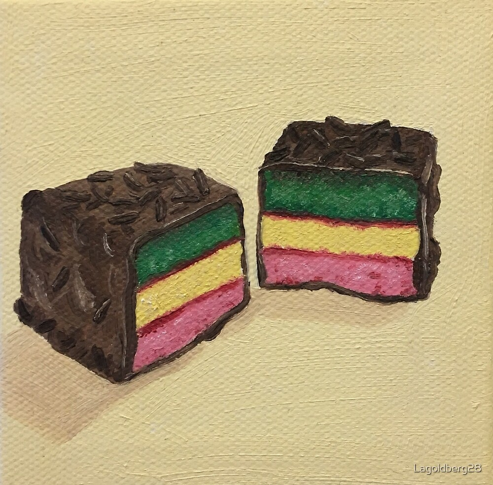 Rainbow Marzipan Cookie Painting by Lagoldberg28