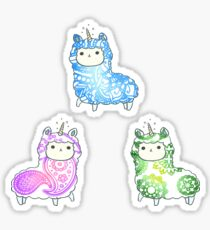 Tie Dye Cute Llama/Alpaca Pack Sticker