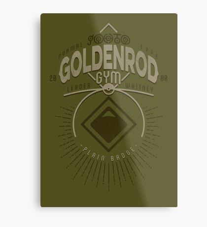 Goldenrod Gym Metal Print
