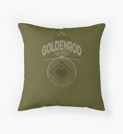 Goldenrod Gym Throw Pillow