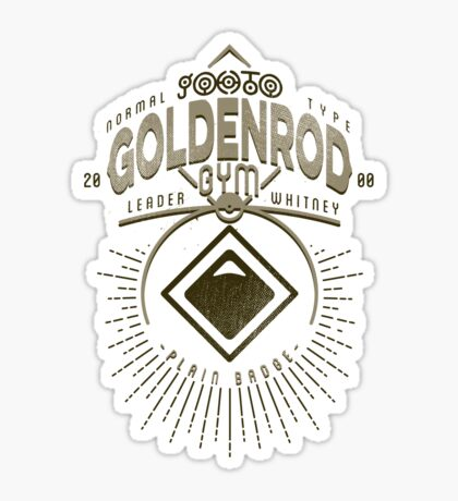 Goldenrod Gym Sticker