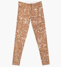 Rose gold painted brushstrokes and glitter Leggings