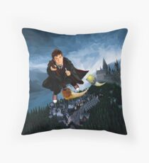 time and space traveller lost in the wizard World Throw Pillow