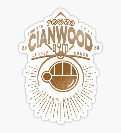 Cianwood Gym Sticker