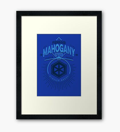 Mahogany Gym Framed Print