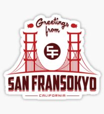 Greetings from San Fransokyo Sticker