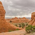 Rain in the Distance at Arches National Park by Sue Smith