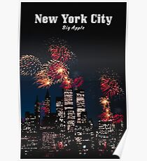 NEW YORK CITY: Big Apple Poster