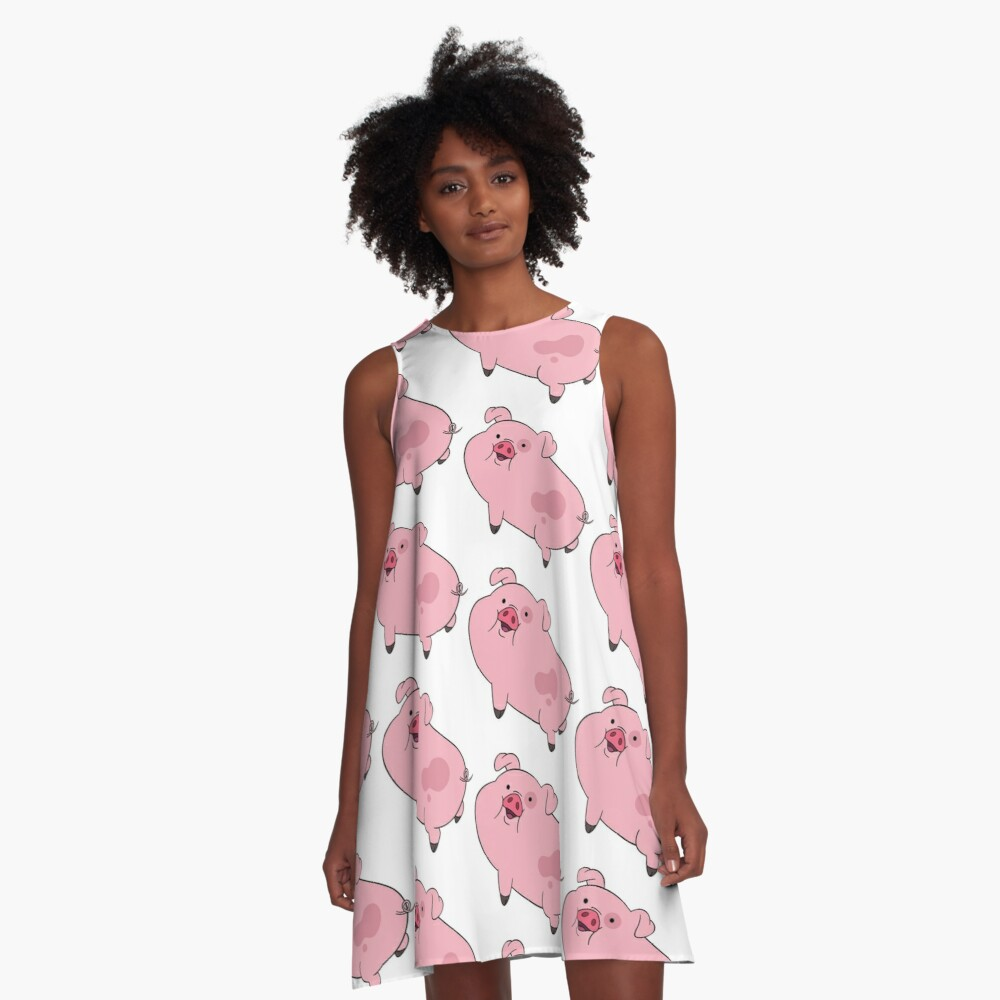 Waddles from Gravity Falls A-Line Dress
