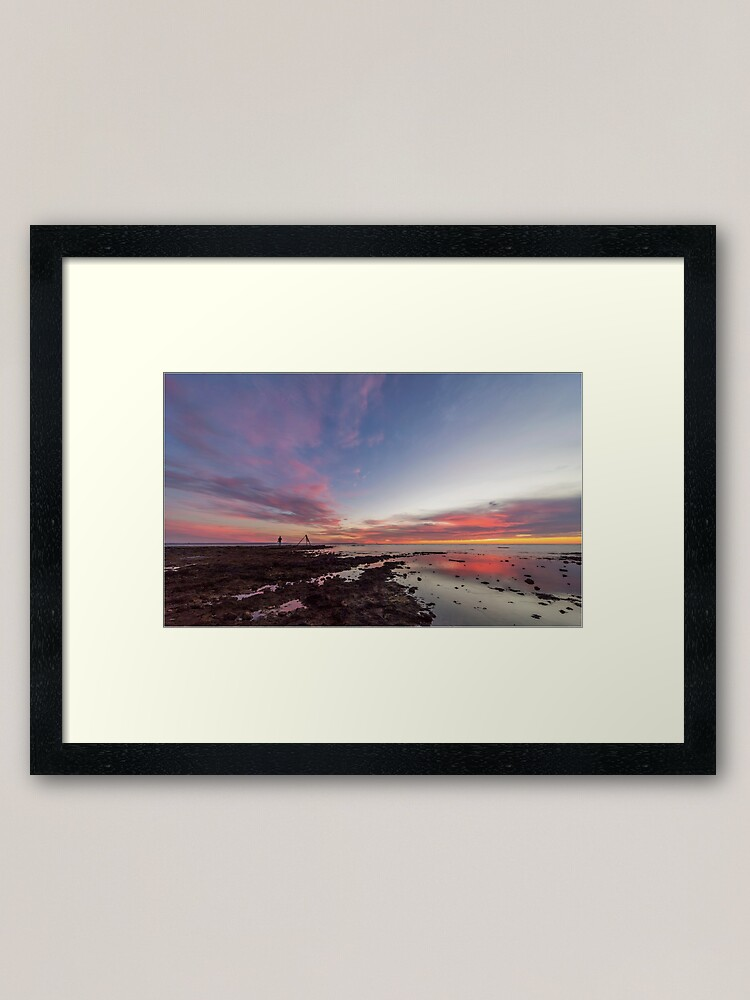 Alternate view of Sunset at Rickett's Point Framed Art Print