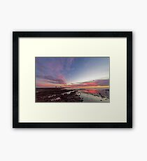 Sunset at Rickett's Point Framed Print