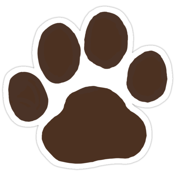 Dog Paw Print Small Stickers For Cards