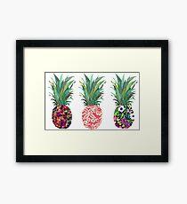 Row of Pineapples Framed Print