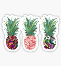 Row of Pineapples Sticker