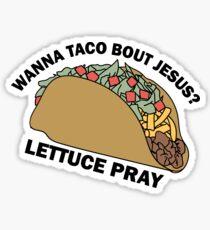 Lettuce Pray Sticker